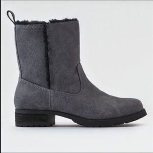 American Eagle Outfitters booties in grey.